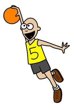 cartoon basketball player