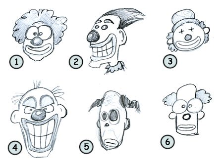 How to draw cartoon clowns step 4