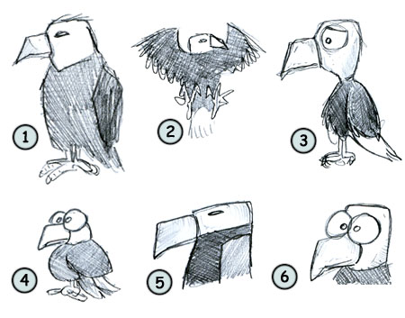 How to draw a cartoon eagle step 4