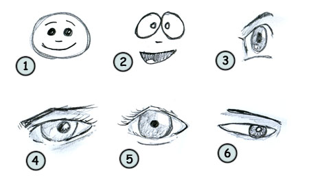 How to draw cartoon eyes step 4
