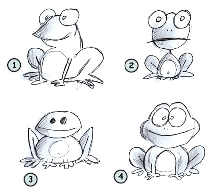 How to draw cartoon frogs step 4