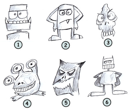 How to draw cartoon monsters step 4!