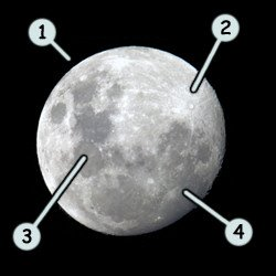 How to draw a cartoon moon step 1