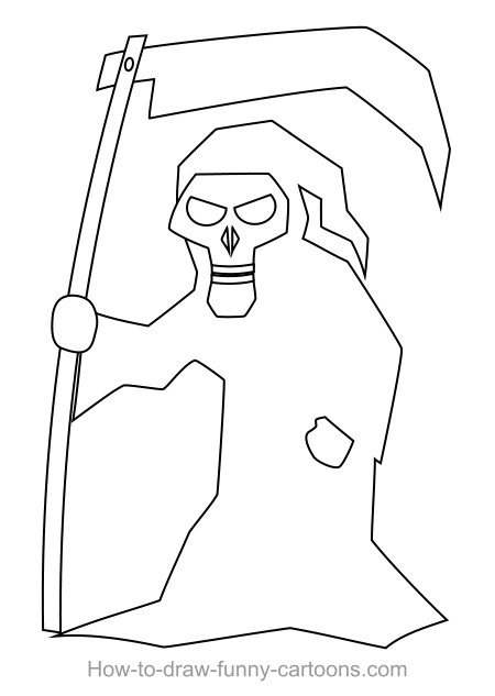 Drawing A Cartoon Reaper