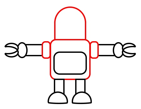 Drawing A Cartoon Robot