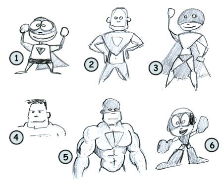 How to draw cartoon superheros step 4