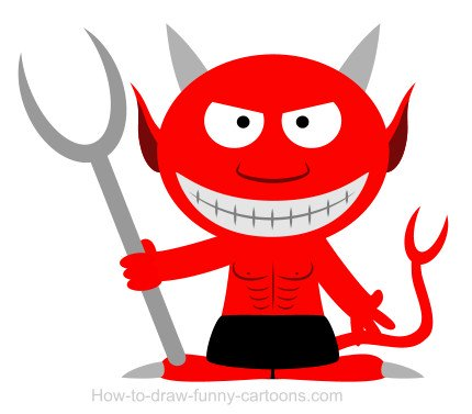 drawing a devil cartoon