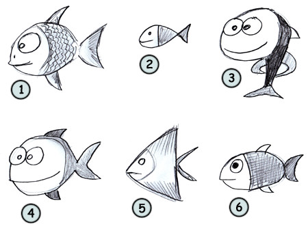 How to draw a fish step 4