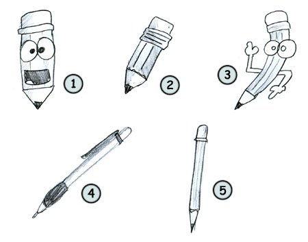 How to draw a pencil step 4