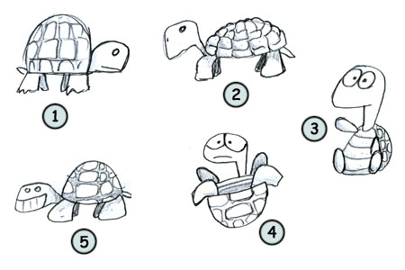 How to draw a turtle step 4
