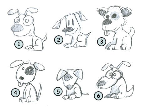 How to draw cartoon puppies step 4