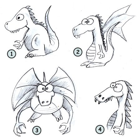 How to draw dragons step 4