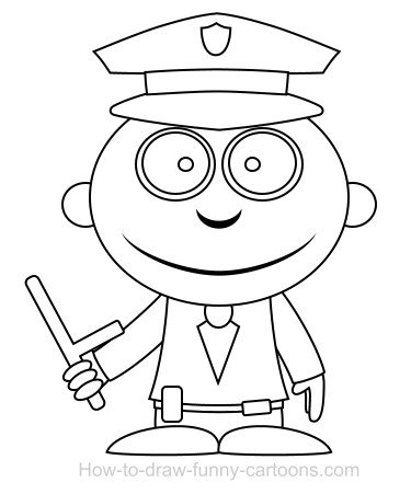 Easy Coloring Pages Funny Cartoon Show