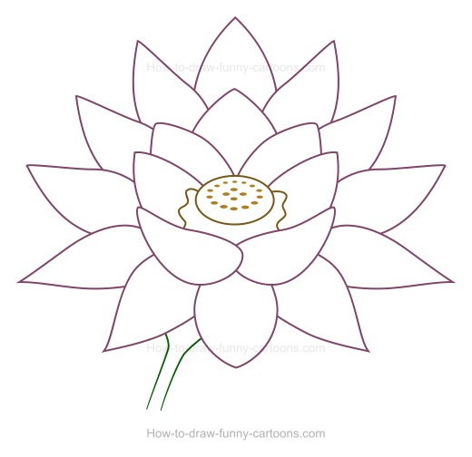 how to draw 6 petal flower