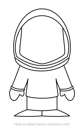 Astronaut drawing (Sketching + vector)