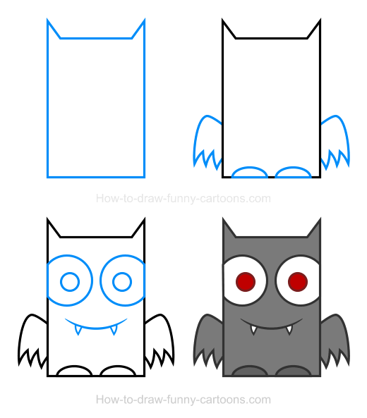 How to Draw a Bat Clipart