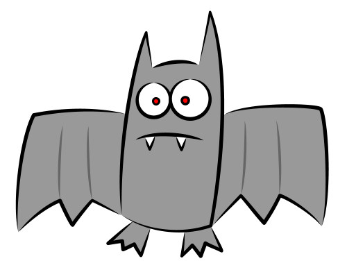Bat Drawings Are Fun To Work With In This Step Select The Pupils And Add A Red Color For Teeth You Will Need Create White Shapes That Be