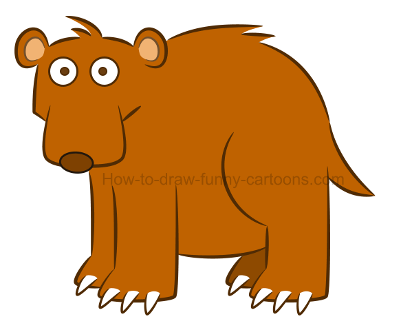 How to draw a bear clip art