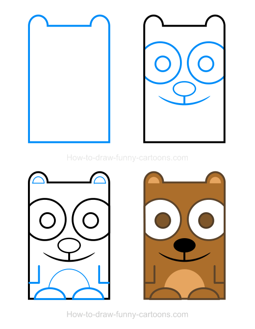 how to draw - bear clipart