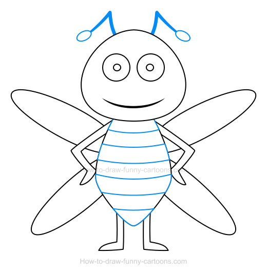 how to draw a comedy funny bees