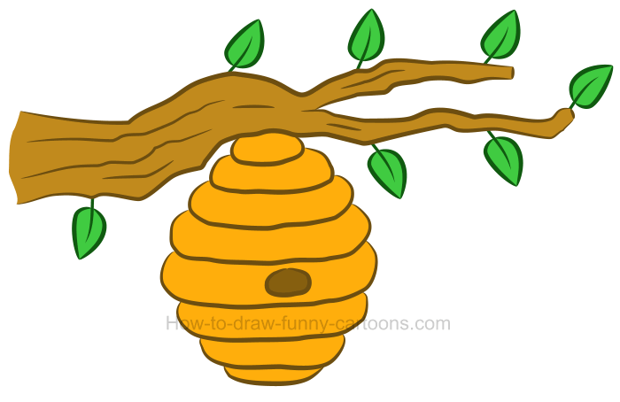 How to draw a beehive clipart