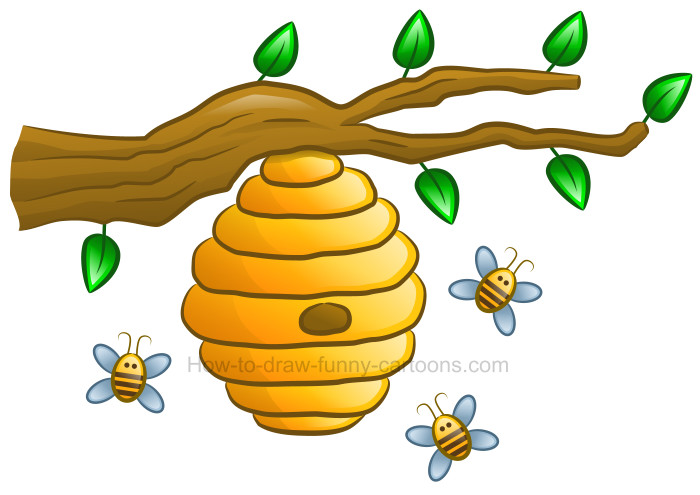 how to draw a beehive clipart rh how to draw funny cartoons com beehive clip art black and white beehive clipart and images