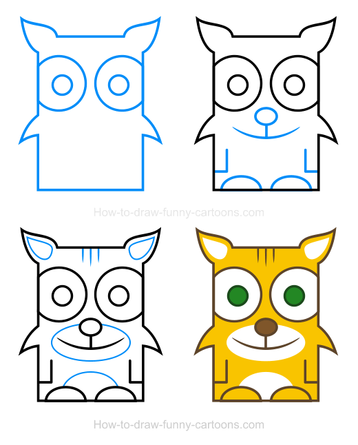 How to Draw a Bobcat Clipart