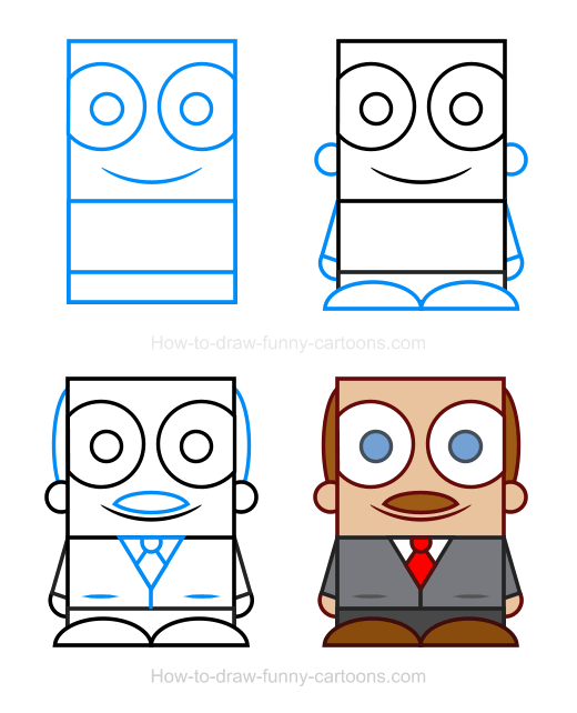 How To Draw A Boss Clipart
