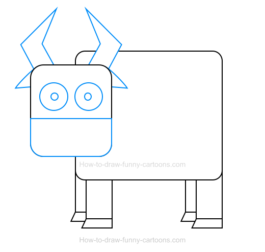 How To Draw A Bull Icon