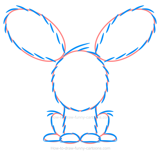 Sketching a bunny illustration