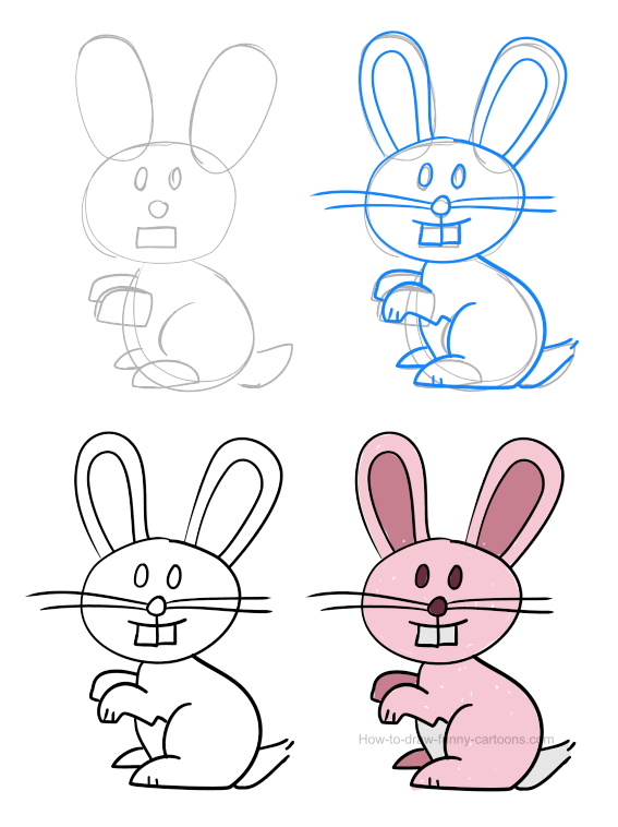 How to draw a bunny (pictures & video)