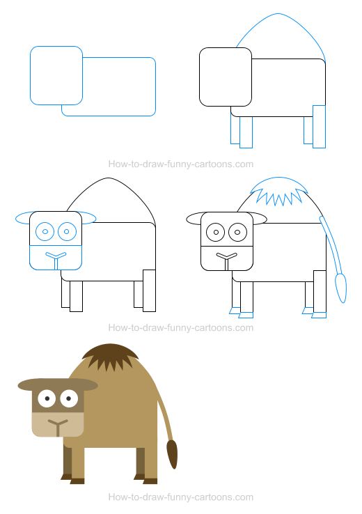 How to draw a camel icon