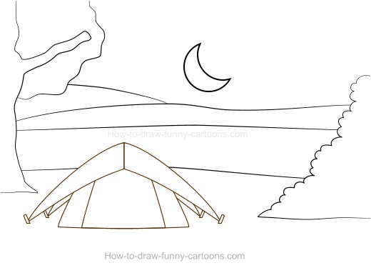 Drawing Lines With Html : Drawing camping cartoons