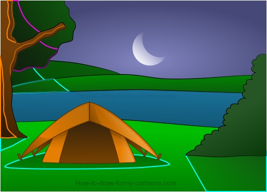 Drawing Camping Cartoons