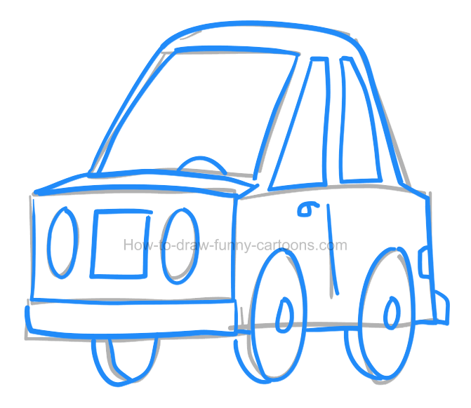 How To Draw A Car Clipart