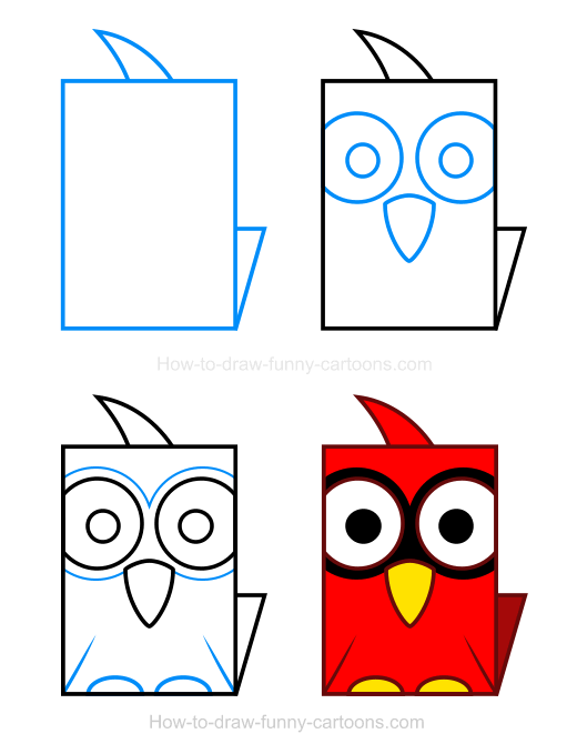 How to Draw a Cardinal Clipart