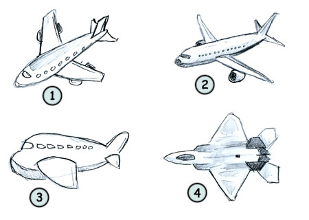 Drawing A Cartoon Airplane