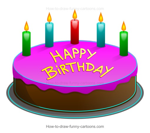 Cartoon Birthday Cake Images Download : How to Draw A Cartoon Birthday Cake