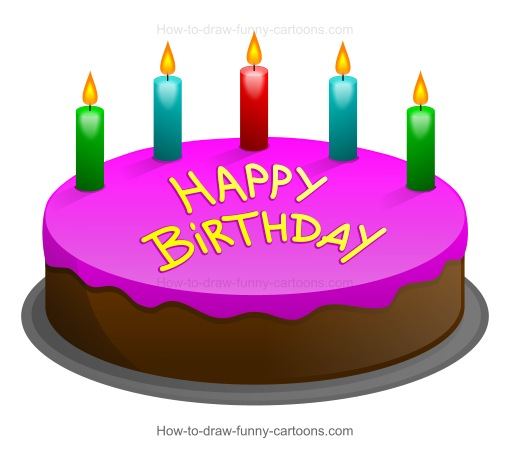 Marvelous How To Draw A Cartoon Birthday Cake Funny Birthday Cards Online Alyptdamsfinfo