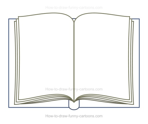 Book Cover Drawing Book : How to draw a cartoon book