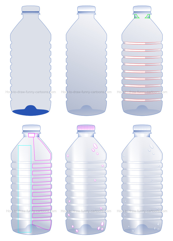 How to draw a cartoon bottle