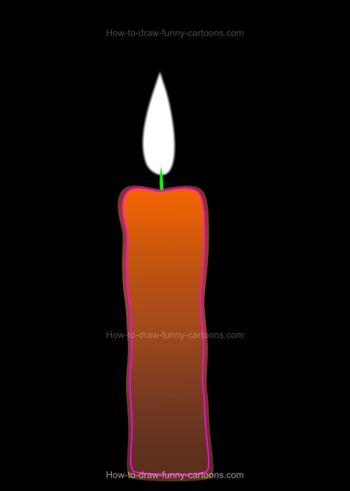 How to Draw A Cartoon Candle