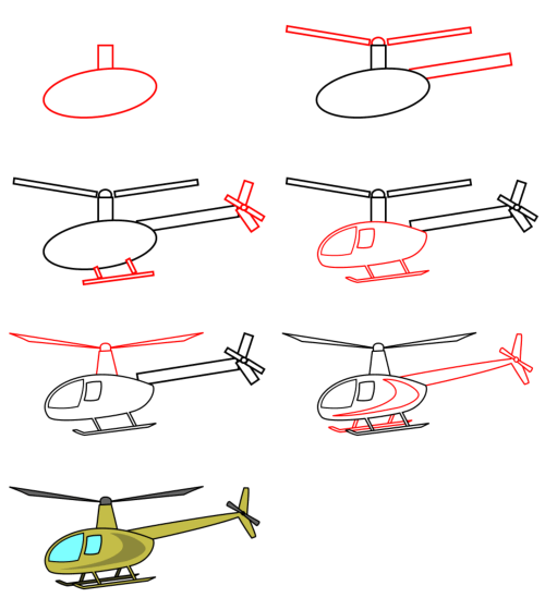Cartoon cars : helicopter