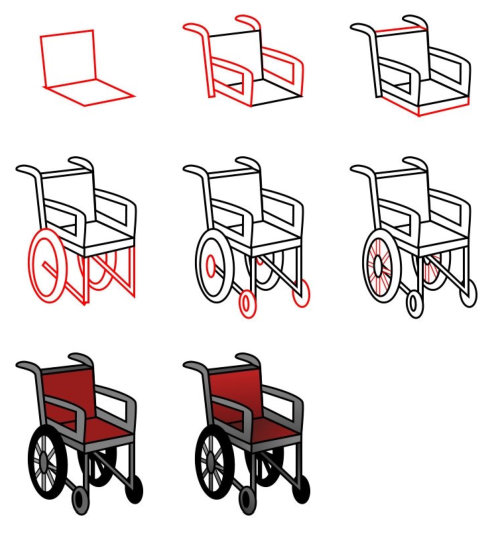 Cartoon cars : wheelchair