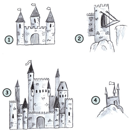 How To Draw A Cartoon Castle