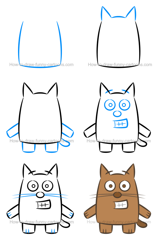 How To Draw Funny Cartoon Characters