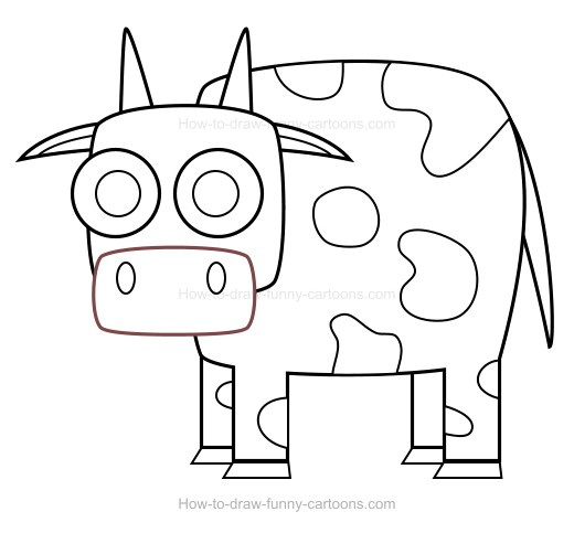 how to draw cow spots