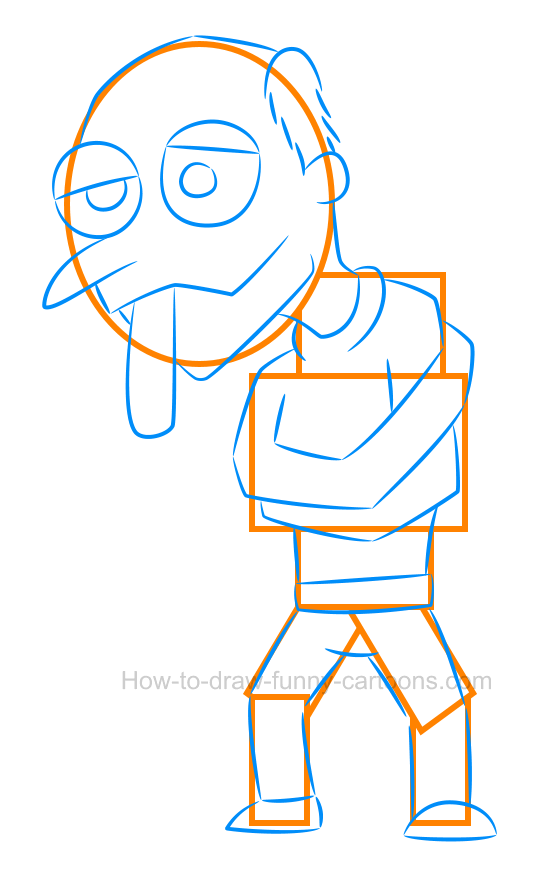 How to draw a cartoon crazy patient