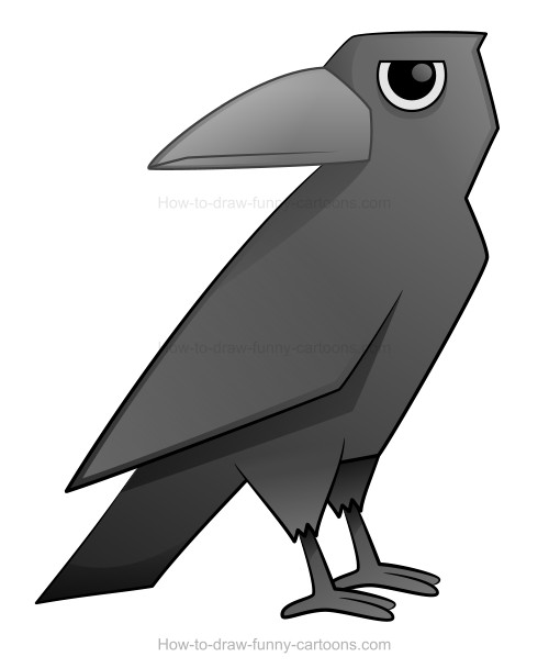 How to Draw A Cartoon Crow