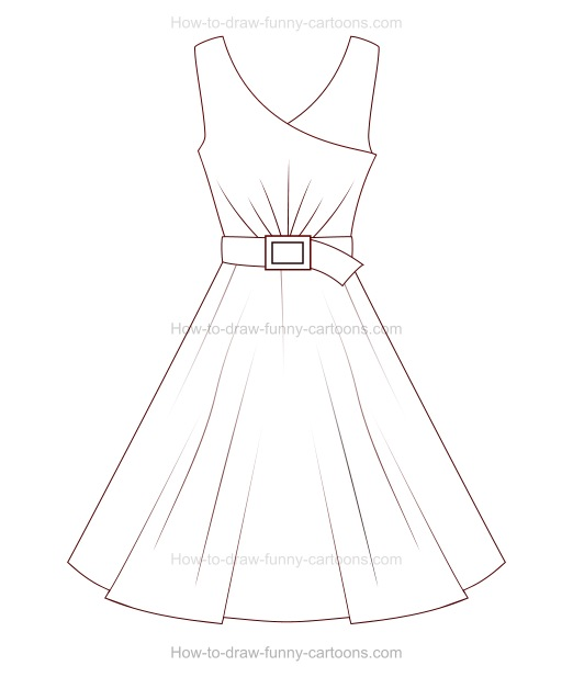 How to Draw A Cartoon Dress
